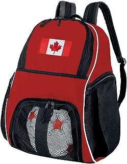 Broad Bay Canada Flag Soccer Ball Backpack or Canada Volleyball Bag