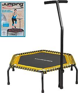 Ultrasport Cama Elástica para Interior y Fitness, Ø 135 cm, con Asidero, en 2 Resistencias de la Esterilla Suave, hasta 80 kg o Dura, hasta 100 kg