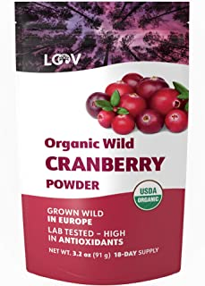 Organic Wild Cranberry Powder, Made from 100% Whole Organic Cranberry Fruit, Freeze Dried and Powdered Cranberries, Raw, 1...