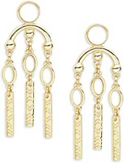 House of Harlow Desert Oasis Drop Simulated Mother of Pearl Goldtone Post Back Earrings