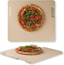 Pizza Stone 14 x 16 Rectangular Baking & Grilling Stone Perfect for Oven BBQ and Grill. Innovative Double - faced Built - ...