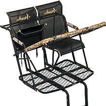 Muddy MLS2800 Rebel 2.5 Tree Stand 17' Ladder Stand, Lumbar Style 1.5 seat Design, Flex-Tek Seats flip up for Full Platform use.