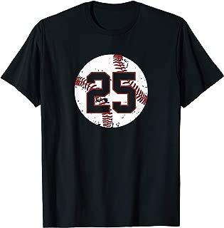 Vintage Baseball Number 25 Shirt Cool Softball Mom Gift