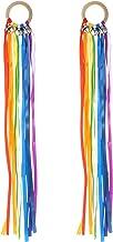 TOYMYTOY 4pcs Rainbow Hand Kite Rainbow Ribbon Sensory Toys Early Learning Educational Montessori Toys Dancing Ribbon Stre...
