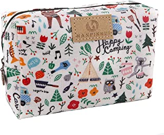 Cute Travel Makeup Pouch Cartoon Printed Toiletry Cosmetic Bag for Girls, Women(Forest)