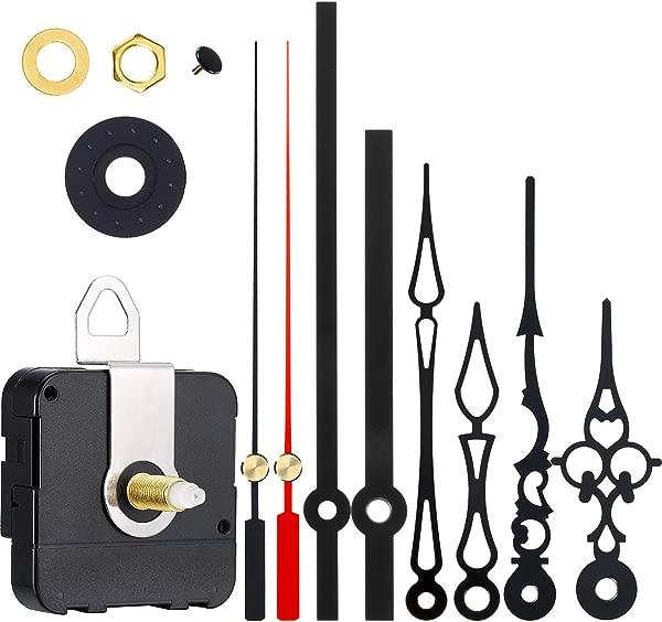 Hicarer 3 Pair Hands Quartz Clock Movement DIY Wall Clock Movement Mechanism DIY Repair Parts Replacement Color 1