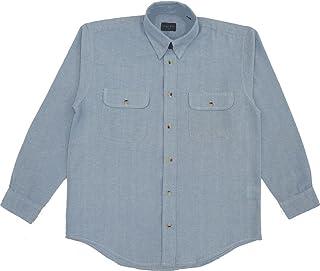 YU:52001 綿100%長袖ダンガリーシャツ
