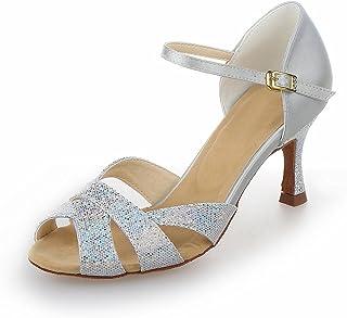 JIA JIA Y2054 Chaussures de Danse Latine Satin