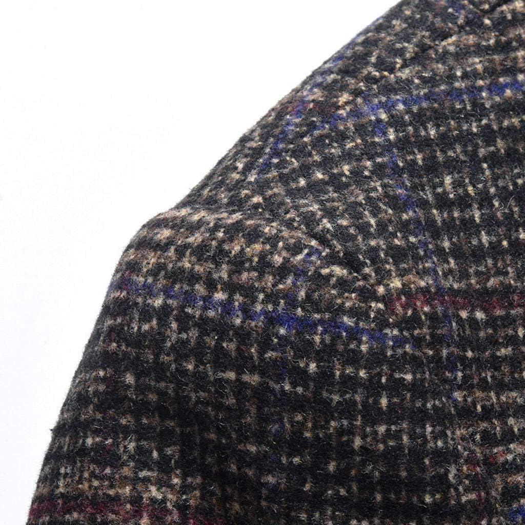 FRAUIT Giacca Uomo Elegante Slim Fit Giacche Uomini Primavera Cappotto Ragazzo Inverno Lana Abito Taglie Forti Blazer Tailleur Quadri Primaverile