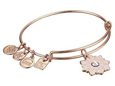 Alex and Ani Charity By Design, Water Lily Bangle (Shiny Rose) Bracelet
