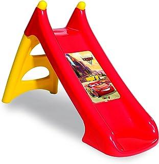 Smoby Cars 3 - Tobogán de Plástico para Niños de 2-4 Años, Rojo y Amarillo, XS, 125 x 50 x 75 cm (820613)