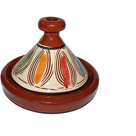 D 28 cm COSY /& TRENDY 300084 Steinzeug Tajine Ikat//Wei/ß//Terracotta