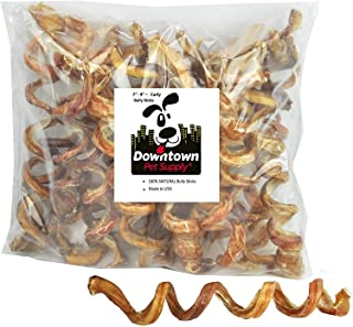 """Downtown Pet Supply 7"""" - 9"""" Curly Spiral Bully Sticks, Bully Springs for Dogs Made in USA - Regular Select Thick – Odorles..."""
