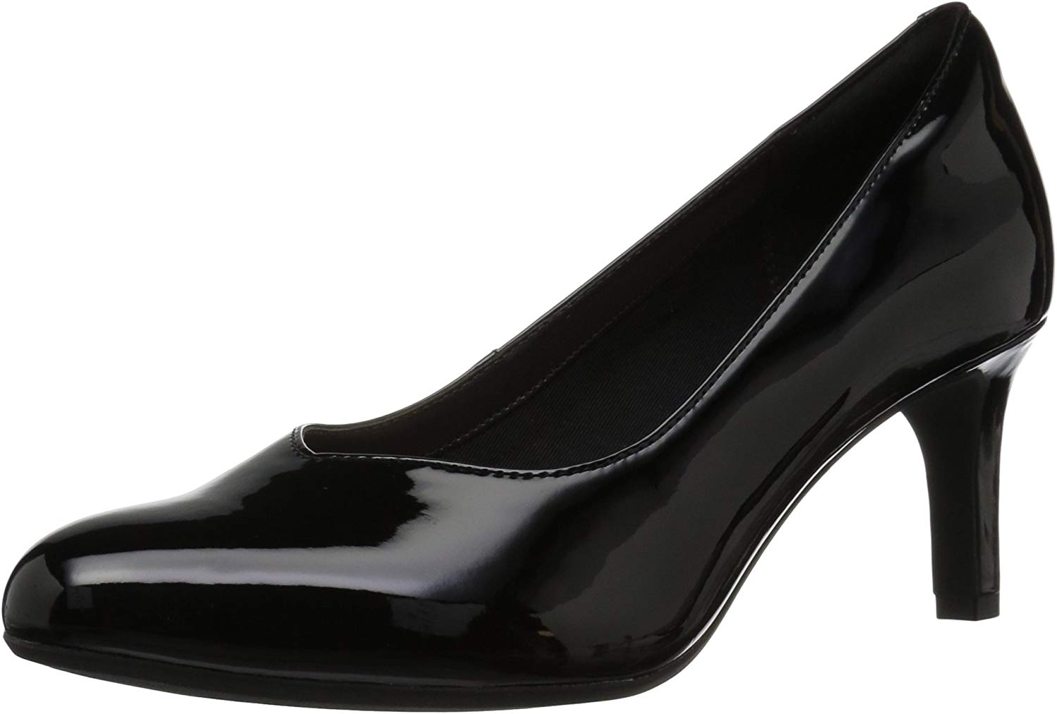 Clarks Wouomo Dancer Nolin Pump, nero Synthetic Patent, 080 M US