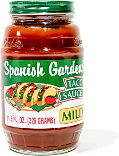 Spanish Gardens Taco Sauce – A Taco Night Must-Have! Mild Taco Sauce for Authentic Mexican Food & Tex Mex Cravings – Original Family Recipe, Smooth Taco Sauce, Flavorful Mild Sauce (11.5 oz) - 6 Pack