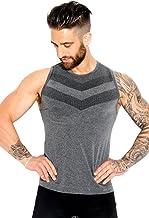 Sundried Camiseta sin Mangas ni Costuras para Hombres para Atletismo Gimnasio Activewear