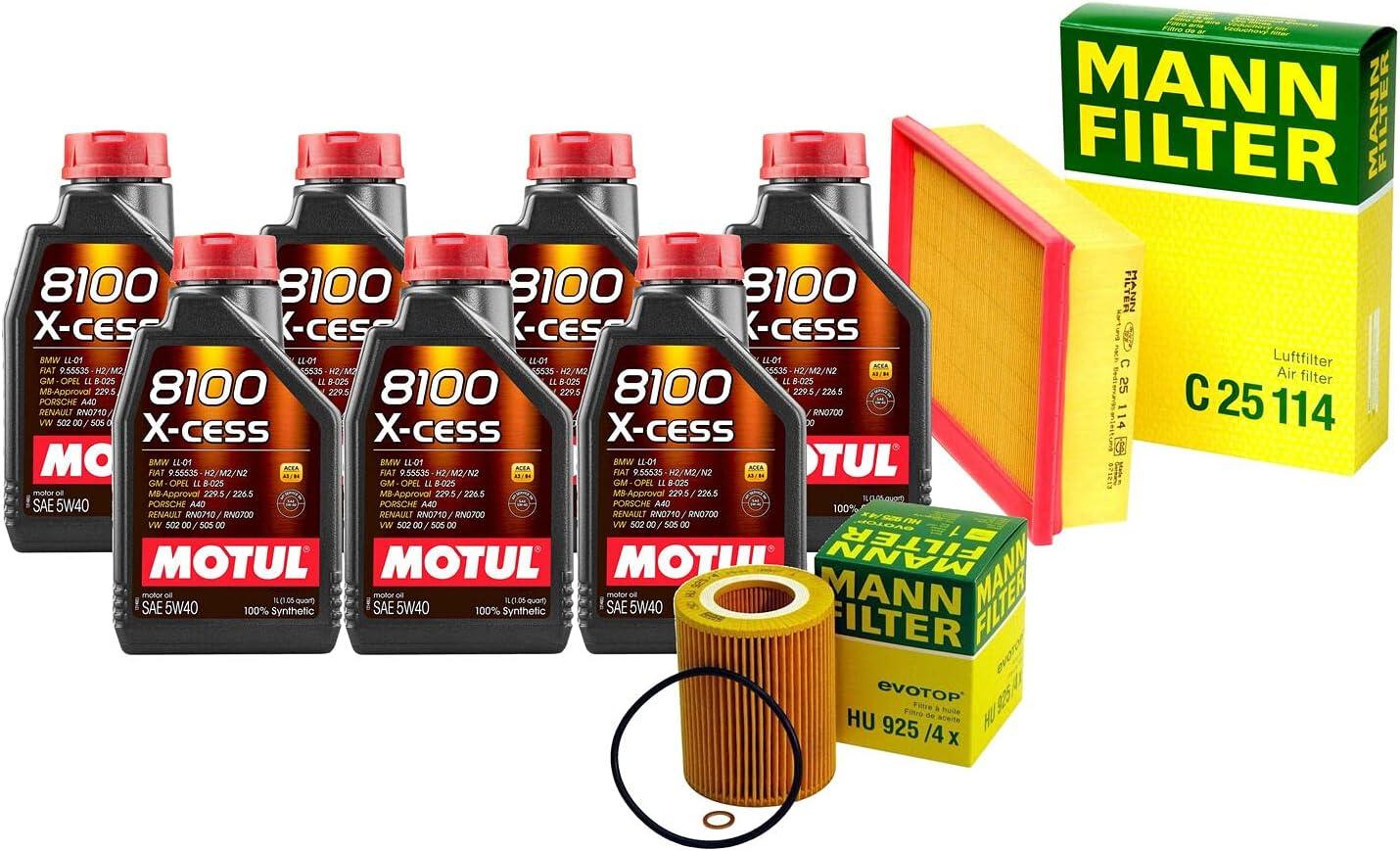 shipfree Over item handling 7L 8100 X-CESS 5W-40 Filter Motor Air E83 Change X3 3.0L kit Oil