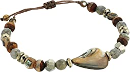 Chan Luu Sterling Silver Pull Tie Bracelet with Semi Precious Stones