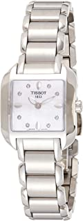 Tissot Womens Quartz Watch, Analog Display and Stainless Steel Strap T02128574