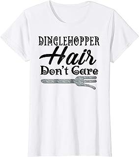 Womens Dinglehopper Hair Don`t Care - Funny Mermaid T Shirt