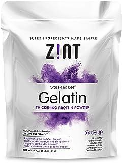 Zint Beef Gelatin Powder (16 oz): Unflavored, Keto Certified, Paleo Friendly Collagen Based Protein - For Baking, Jello & ...