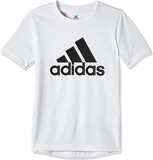 تي شيرت ايسينشيالز بطبعة كبيرة لشعار العلامة التجارية للاولاد من اديداس