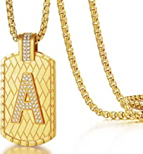 Sponsored Ad - ETEVON Gold Initial Letter Necklace Pendant Chain Bling Alphabet Capital Personalized Women Men Jewelry Gif...