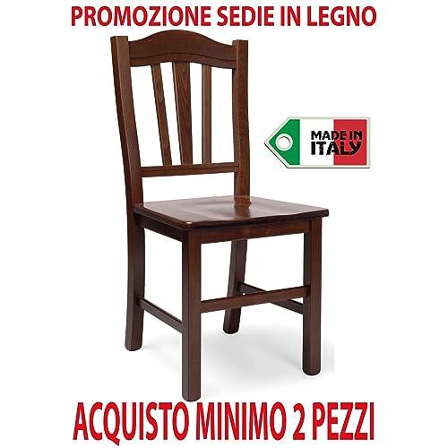 Sedie Legno Massiccio.Sedie Legno Massello Amazon It