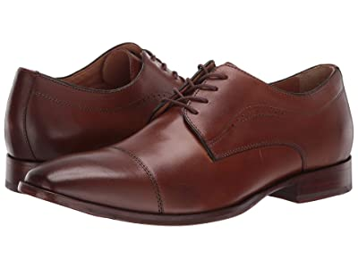 Johnston & Murphy McClain Cap Toe Dress Oxford (Tan Full Grain) Men