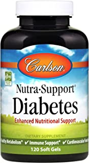Carlson - Nutra-Support Diabetes, Enhanced Nutritional Support, Supports Special Dietary Needs, 60 Soft gels