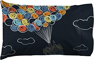 Jay Franco Pixar Up 1 Pack Pillowcase - Double-Sided Kids Super Soft Bedding (Official Pixar Product)
