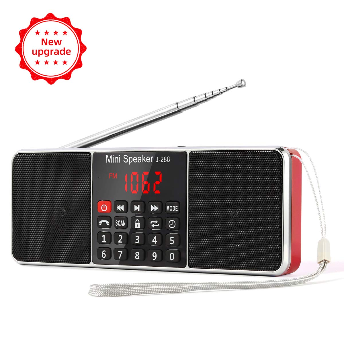L-288 Radio portátil FM Am con Altavoz estéreo Bluetooth ...