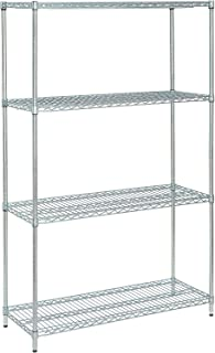 Medium Duty Wire Shelving Unit, Zinc Chromate, 48