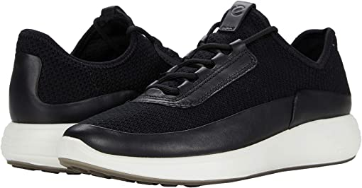 Black/Black/Black Cow Leather/Textile