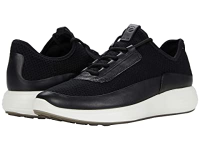 ECCO Soft 7 Runner Summer Sneaker (Black/Black/Black Cow Leather/Textile) Women