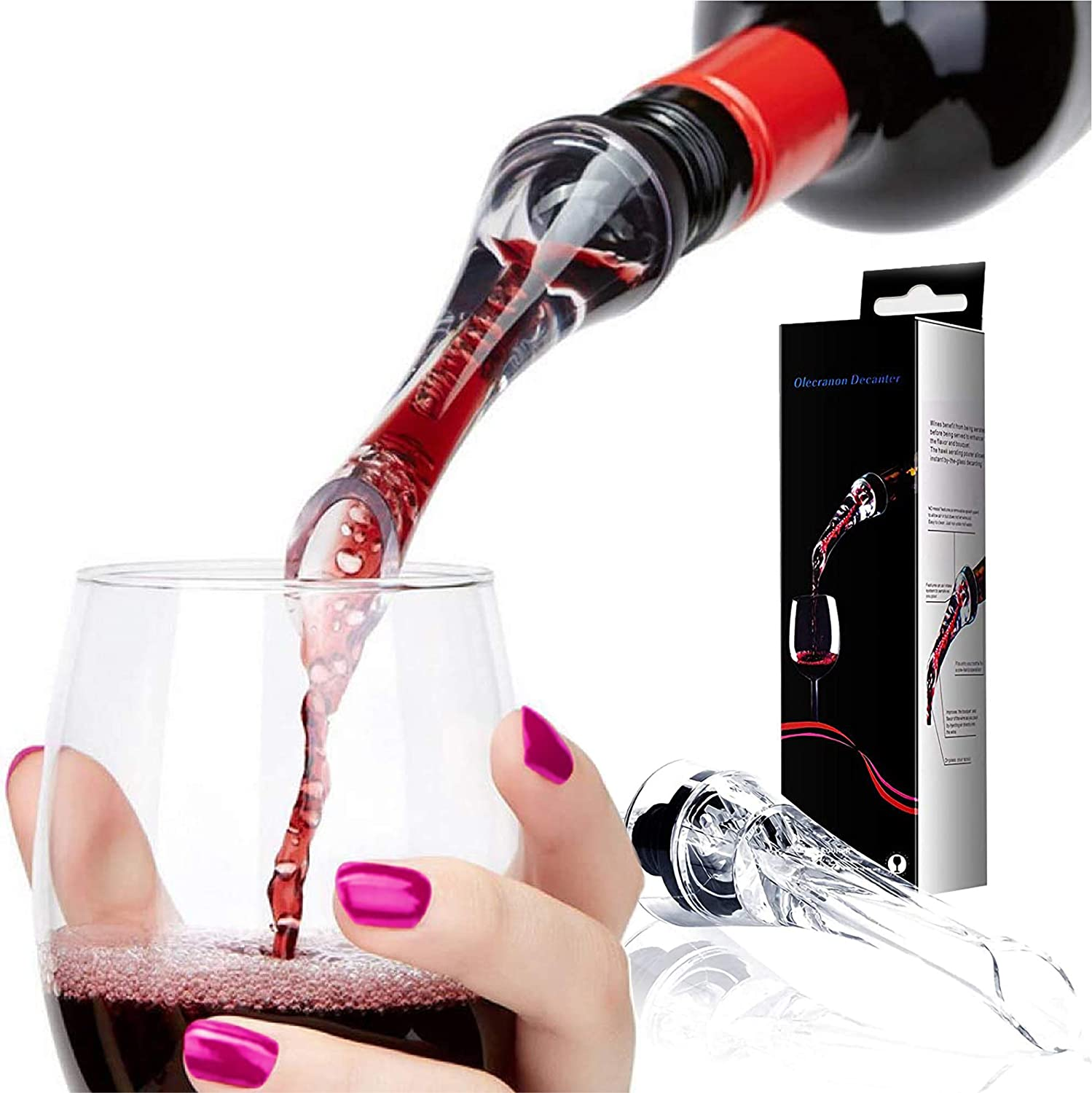 Trovety Wine Aerator Pourer Challenge the lowest price of Japan ☆ - Hawk-Bill Drip Shape No Easy for Now on sale