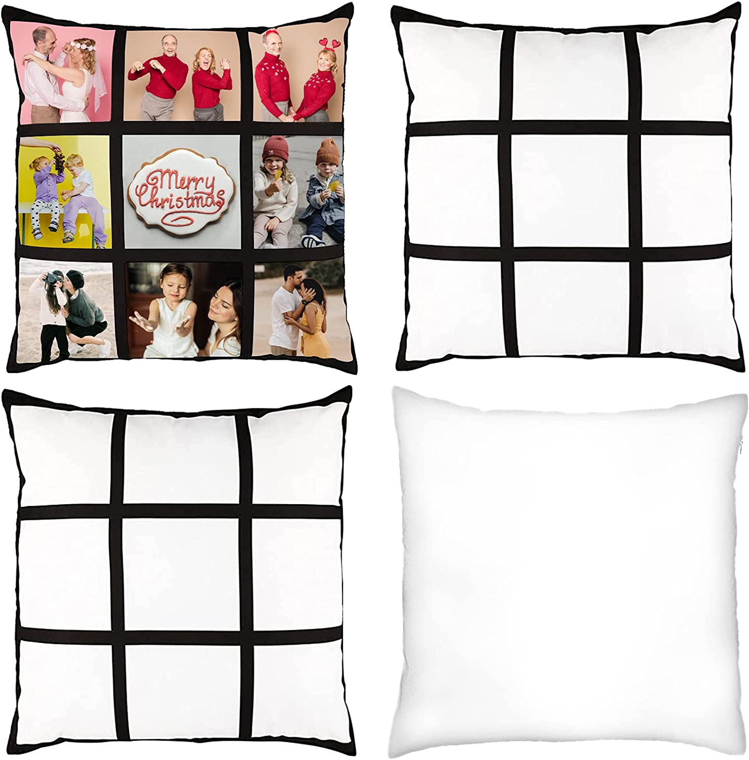 Sublimation 9 Long Beach Mall Panel Pillow Bla Case Attention brand Cover DIY