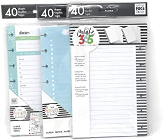 The Happy Planner Create 365 Mini Planner Refills 3 Packs of Undated Refill Papers