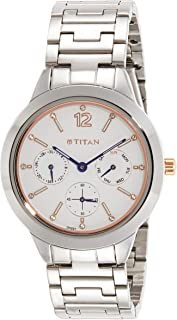 Titan Neo Analog White Dial Women's Watch - 2588KM01
