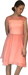 Helgas Modewelt Konfirmationskleid, Chiffonkleid, Cocktailkleid in 3/4 Länge, Festkleid für Mädels, Abendkleid, Happy Girls,