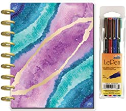 Create 365 Classic Happy Planner – Happy Notes Guided Journal – Agate + Uchida Le Pen 0.3mm Pen 4 Pack