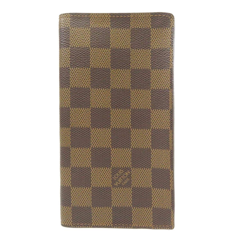 [ルイヴィトン]ポルト カルト クレディ N60825 長財布(小銭入れあり) ダミエキャンバス レディース (中古)