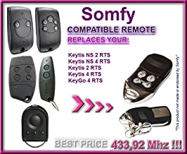 Somfy KEYGO 4 RTS 4-kanaals compatibel afstandsbediening 433,92 MHz Rolling Code