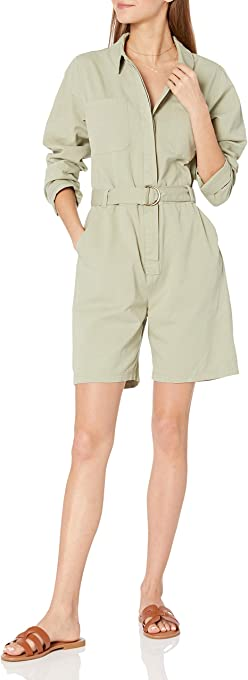 The Drop Women's Karla Utility Vintage Short Jumpsuit