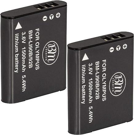 BM Premium 2-Pack Of LI-92B, LI-90B batteries for Olympus Tough TG-Tracker, Tough SH-1, SH-2, SP-100, SP-100 IHS, SP-100EE, Tough TG-1 iHS, Tough TG-2 iHS, Tough TG-3, Tough TG-4, SH-50 iHS, SH-60, XZ-2 iHS Digital Camera