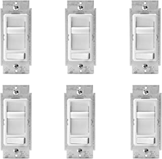 Leviton R62-06674-P0W SureSlide Universal Incandescent Dimmer White (6 Pack)