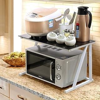GRY Estante de almacenamiento de cocina 2 capas de estante del horno de microondas estante de condimento organizador de ...