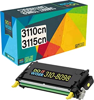 Do it Wiser Compatible Toner Cartridge Replacement for Dell 3110cn 3115cn 3110 3115 | 310-8098 - High Yield 8,000 Pages (Yellow)