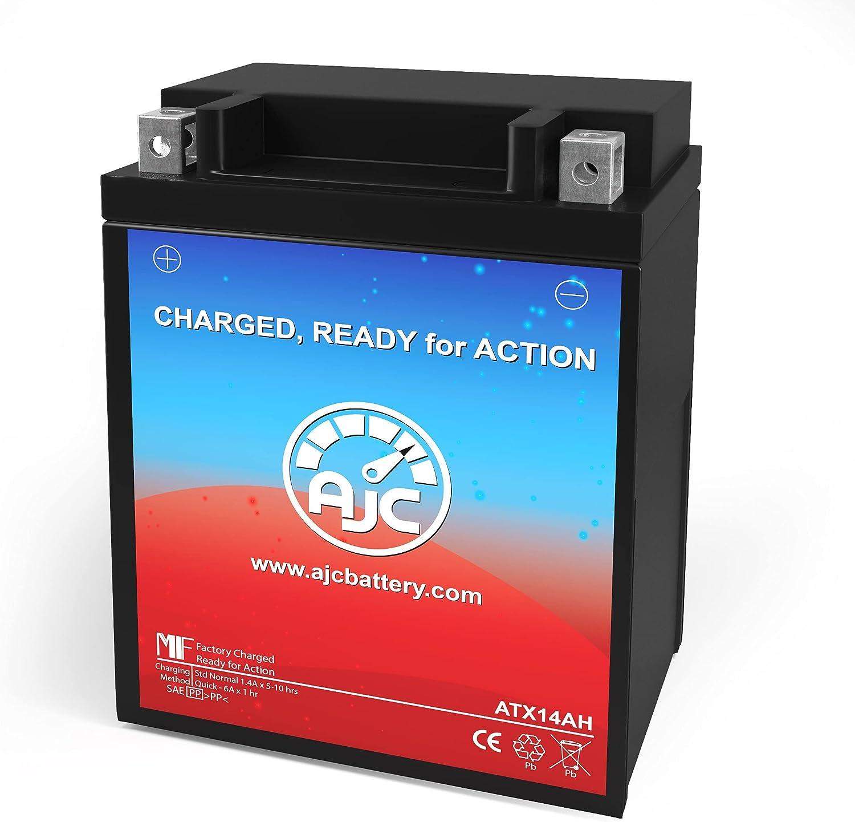 AJC Battery Compatible with Kawasaki Mule SX 400CC ATV Battery (2017-2018)