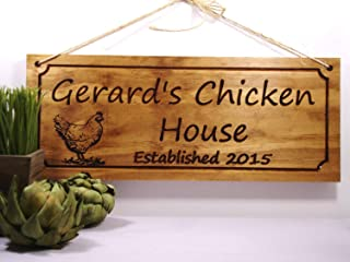 Olga212Patrick Chicken Coop Sign Custom Wood Sign Farm Signs Personalized Wooden Signs Family Name Signs Welcome Signs Plaque Sign s